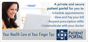 your health care at your fingertips - click here to visit our online patient portal